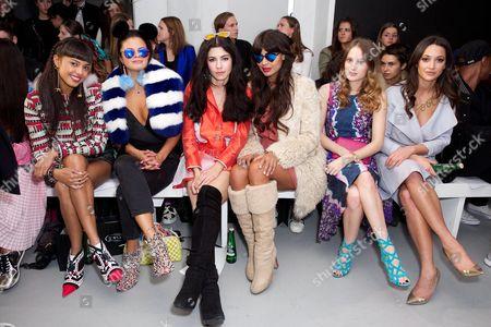 Invader Girl, Bip Ling, Marina Lambrini Diamandis, Jameela Jamil, Rosie Fortescue and Roxie Nafousi