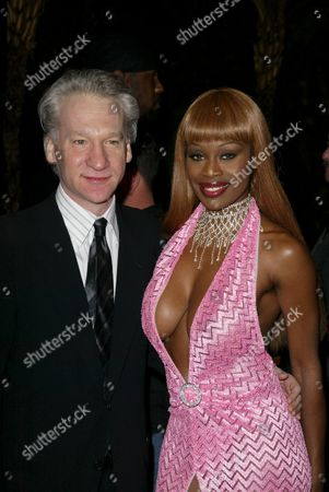 Stock Photo of Bill Maher and Coco Johnsen