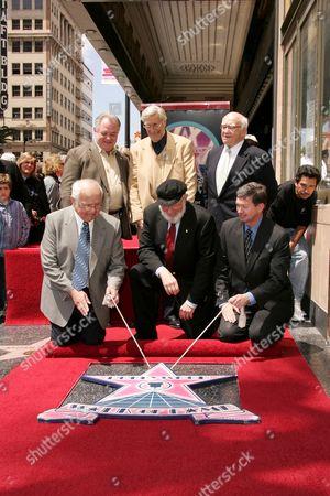 Johnny Grant, Martin Landau, Theodore Bikel and Ed Asner and Ler