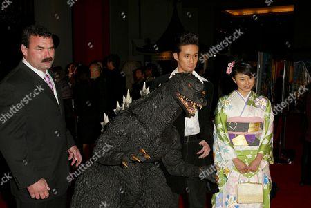 Don Frye, Godzilla, Masahiro Matsuoka and Rei Kikukawa