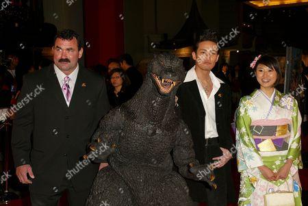 Stock Photo of Don Frye, Godzilla, Masahiro Matsuoka and Rei Kikukawa