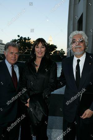 Martin Sheen, Anjelica Huston and Robert Graham