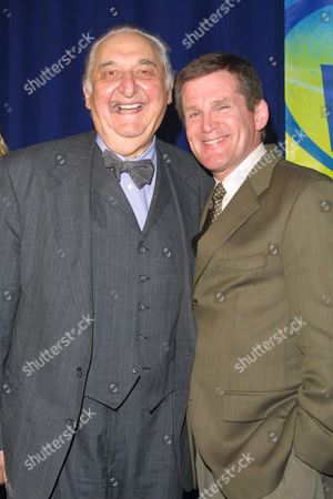 """""""Boston Public"""" co-stars Fyvush Finkel (left) and Anthony Heald at the FOX Televison Network 2002-2003 Upfront Presentation after-party at Pier 88 in New York City on May 16, 2002.  Manhattan, New York  Photo® Matt Baron/BEI"""