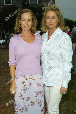 "Anne Hearst (left) and Kathy Hilton at the cocktail reception for ""A Toast For A Child"", benefiting Operation Smile at the home of Rick & Kathy Hilton in Southampton, New York on July 27, 2002.