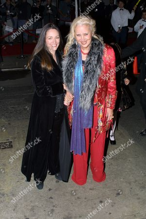 Olivia Hussey (left) and Sally Kirkland arriving to the party celebrating the wedding of David Gest and Liza Minnelli at the Regent Wall Street Hotel in New York City, New York on March 16, 2002.  Manhattan, New York  Photo® Matt Baron/BEI