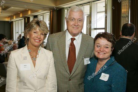 Stock Image of Joan Burns, Allan Burns, and Debbie Hyde