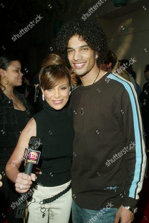 Stock Picture of Paula Abdul and Corey Clark