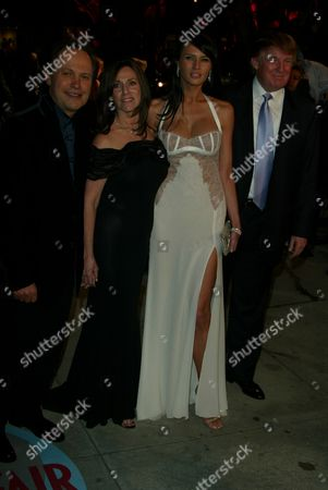Stock Picture of Billy Crystal,wife Janice Goldfinger,Melania Knauss,Donald Trump