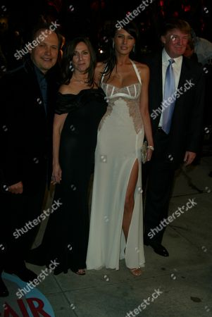 Billy Crystal,wife Janice Goldfinger,Melania Knauss,Donald Trump