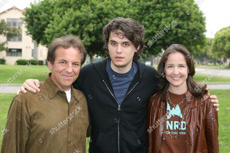 Jim Wiatt, John Mayer and Elizabeth Wiatt