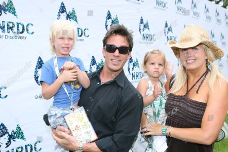 Dan Cortese, Dee Dee Hemby, children India Isabella and Roma
