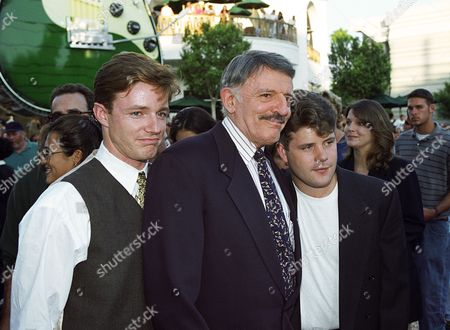 Stock Photo of Mackenzie Astin, John Astin and Sean Astin