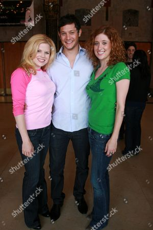 Megan Hilty, Rob Mills and Caissie Levy