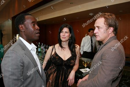Don Cheadle, Melissa Fitzgerald and Bradley Whitford