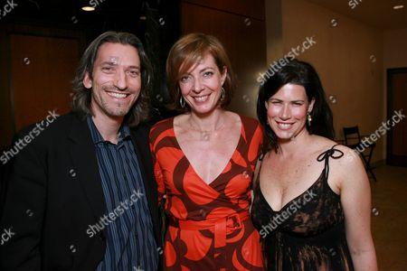 John Prendergast, Allison Janney and Melissa Fitzgerald