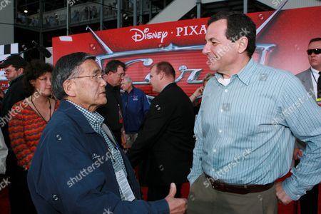Norman Mineta and Bob Iger