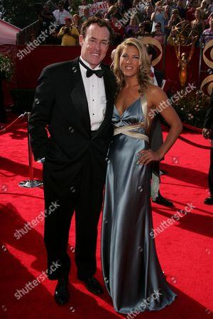 Stock Image of John C. McGinley and wife Lauren Lambert