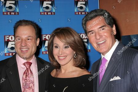 Stock Image of Nick Gregory, Rosanna Scotto, Ernie Anastos