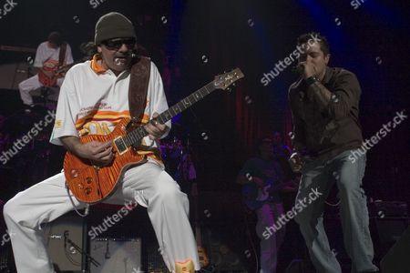 Carlos Santana and Andy Vargas of Santana