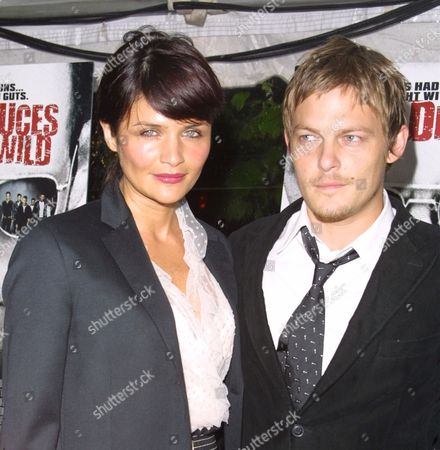 """Helena Christiansen and Norman Reedus arriving to the premiere of United Artists' """"Deuces Wild"""" at the Clearview Chelsea West Cinemas in New York City on April 22, 2002.  Manhattan, New York  Photo® Matt Baron/BEI"""