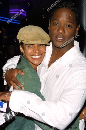 "The film's stars Chenoa Maxwell and Blair Underwood at a screening of the film ""G"", as part of the 1st Annual Tribeca Film Festival, at the UA Theatre in Battery Park City, New York City on May 10, 2002.