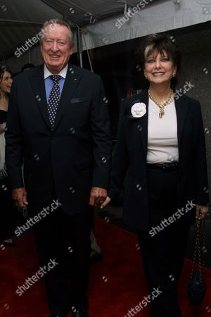 """Suzanne Pleshette (""""Good Morning Miami"""") and husband Tom Poston arriving to the NBC Primetime Upfront for the 2002-2003 schedule at Radio City Music Hall in New York City on May 13, 2002.  Manhattan, New York  Photo® Matt Baron/BEI"""