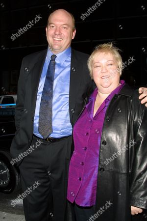 Kathy Kinney and date arriving to the ABC Television Network 2002-2003 Upfront Presentation after-party at Cipriani 42nd Street in New York City on May 14, 2002.  Manhattan, New York  Photo® Matt Baron/BEI