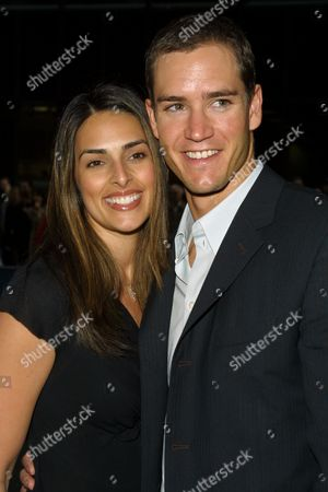 """Mark-Paul Gosselaar (""""NYPD Blue"""") and wife Lisa Ann Russell arriving to the ABC Television Network 2002-2003 Upfront Presentation after-party at Cipriani 42nd Street in New York City on May 14, 2002.  Manhattan, New York  Photo® Matt Baron/BEI"""
