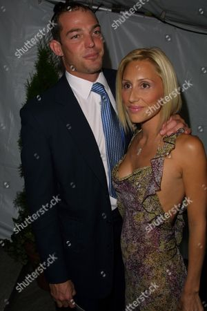 Alexander Von Furstenberg (left) and wife Alexandra Von Furstenberg at the 2002 CFDA Fashion Awards at the New York Public Library in New York City, New York on June 3, 2002.