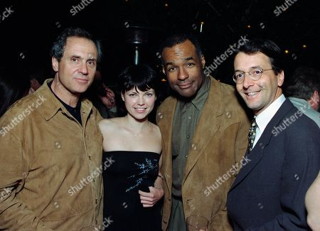 Rick Berman, Executive Producer; Nicole de Boer, who played Lieutenant Ezri Dax; and and Michael Dorn, who played Lt. Cmdr. Worf in Star Trek Deep Space Nine, with guest