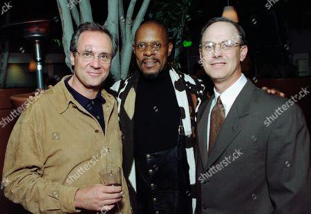 Stock Picture of Rick Berman, Executive Producer; Avery Brooks, who played Captain Benjamin Sisko; and Ira Steven Behr, Executive Producer - all STDS9
