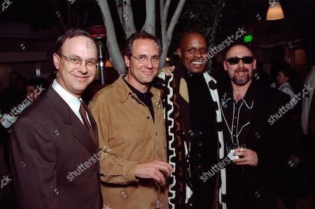 Stock Photo of Michael Piller, Executive Producer; Rick Berman, Executive Producer; Avery Brooks, who played Captain Benjamin Sisko; and Ira Steven Behr, Executive Producer - all STDS9