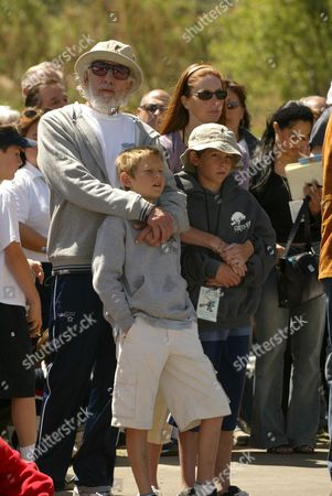Lou Adler, Page Hannah and Kids