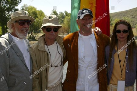 Lou Adler, Paul Newman , Bruce Willis and Page Hannah