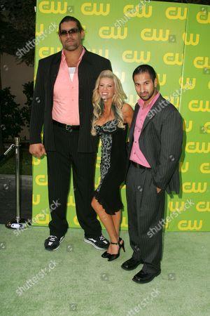 Dalip Singh with Ashley Massaro and Shawn Daivari