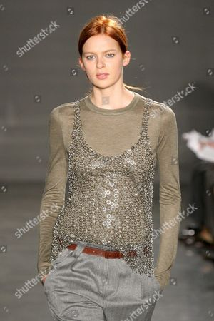 Elise Crombez at the Proenza Schouler fashion show