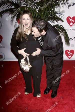 Pregnant Carnie Wilson and huband Rob Bonfiglio