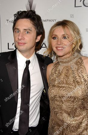 Stock Image of Zack Braff and Sarah Chalke