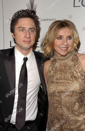 Zack Braff and Sarah Chalke