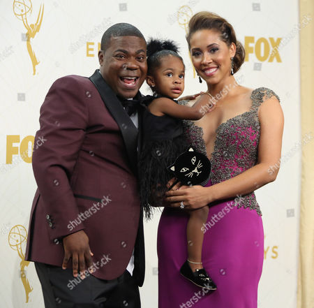 Tracy Morgan and wife Megan Wollover with daughter Maven Sonae M