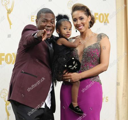 Tracy Morgan and wife Megan Wollover with daughter Maven Morgan