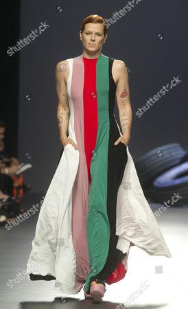 Bimba Bose on catwalk
