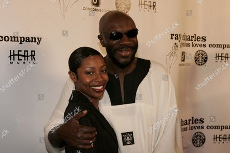Latoya London and Isaac Hayes