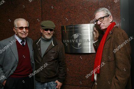 Walter Mirisch, Steven Spielberg and Sid Sheinberg
