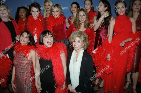 The cast with Director Eve Ensler and Carole Black