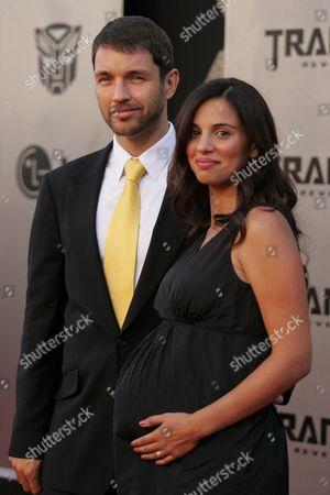 Stock Image of Matthew Marsden and wife