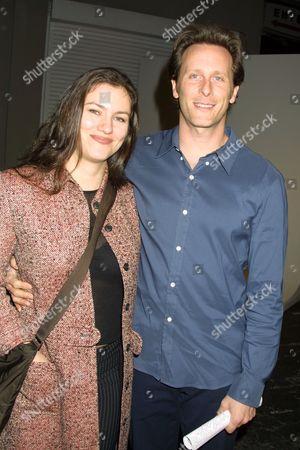 "12/07/01  Los Angeles, CA Steven Weber and Juliette Hohnen  Opening Night for Madeleine Farley's famed art exhibit ""Movie Tips"". Photo®Matt Baron/BEI"