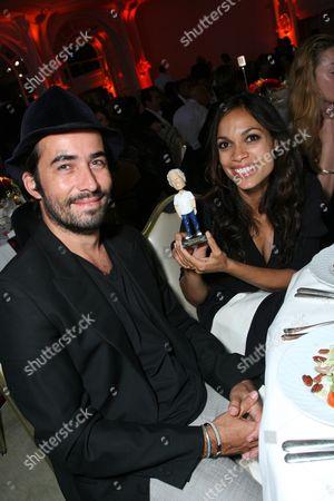 Stock Photo of Mathieu Schreyer and Rosario Dawson