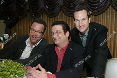Stock Image of Tom Arnold, Andy Kindler and Jimmy Pardo
