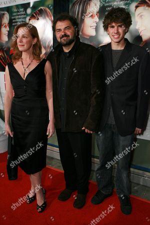 Elizabeth Perkins, Julio Macat and son Max